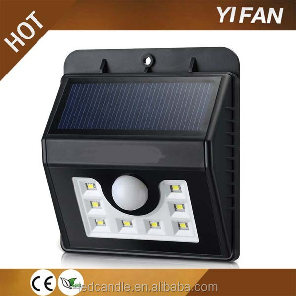 8led Battery Operated Led Light Intelligent Mode Super Bright Garden Security Wall Lamp