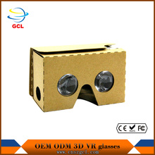 VR BOX 1.0 hd virtual 3d glasses Google Cardboard Virtual Reality VR Mobile Phone 3D Viewing Glasses For Smartphone