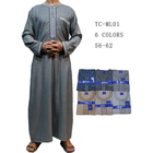 2018 Autumn&Winter Men Cotton Thobe Islamic Clothing Abaya Designs