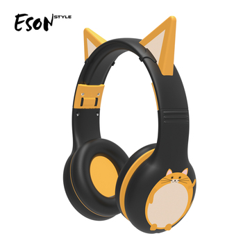 Eson Style 2019 amzon best seller Adjustable Foldable 360 degree 3.5mm Jack Wired Soft Over Ear Headphone