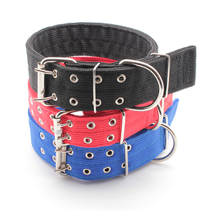 Durable double breasted multi-colors nylon dog collar for adult dog