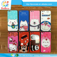 Factory manufacturer 3 in1 Anti-scratch cartoon cover mobile case 9H Glass phone case cover for iphone