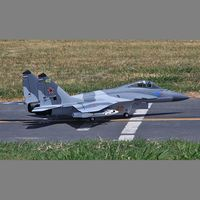 Electric Power Color Smoking RC Airplane Mig-29