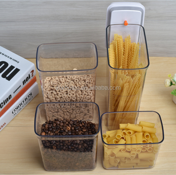 One Touch Button Kitchen Use Food Grade Bpa Free Flat Rectangle