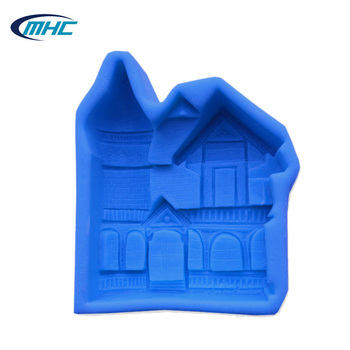 Silicon mold house shape,silicone molds for soap