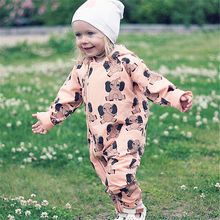 Newborn Baby Clothes boys girls Kids Cotton Long sleeve Hooded Rompers Spring Autumn One pieces Playsuit