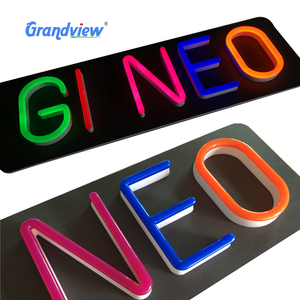 3D eye- catching channel imitating neon letter logo sign