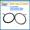 Newest smd angel eye!!! 21 SMD 70mm Angel Eyes SMD LED Ring for all brand cars