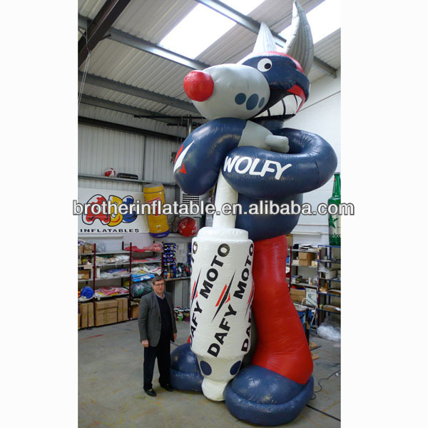 Giant Cartoon Character Inflatable Wolf Man