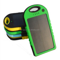 Low price solar charging power bank 4000mah with camping light