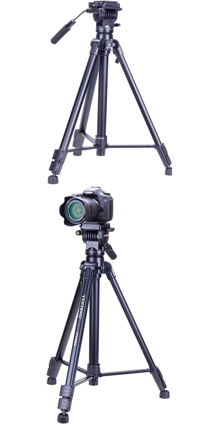 Professional YUNTENG VCT-880RM aluminum photography photo studio video camera tripod stand