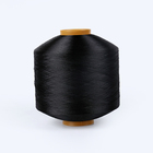 GRS and TC certificate Recycled POLYESTER DTY dope dyed Black FILAMENT Yarns for woven label
