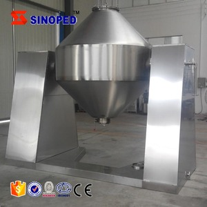 High Efficiency Stainless Steel Double Tapered Vacuum Mixer For Chemical Powder