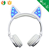 OEM Manufacturer Custom Logo Foldable Wireless Bluetooth Stereo Cat Headphones Bluetooth Headset With Multi Colors