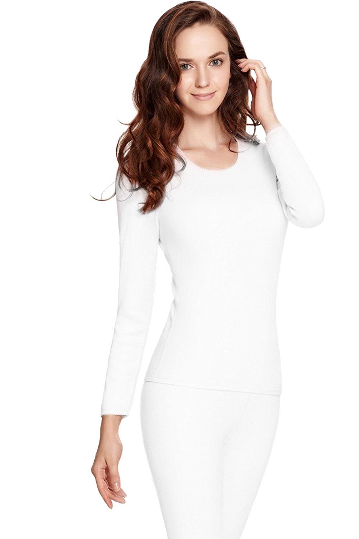 62d5de45d21b Fashion Hoodies & Sweatshirts WuhouPro Womens Ultra Soft Microfiber Fleece  Thermal Underwear Long Johns Thermal Underwear