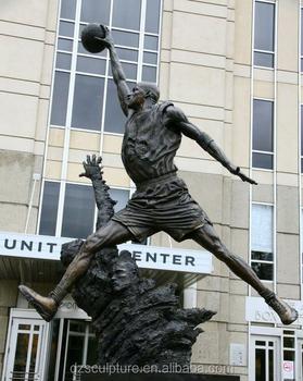meilleure sélection ae371 cbce5 Taille De Vie Célèbre Star De La Nba Michael Jordan Sculpture En Bronze -  Buy Sport,Sculpture En Bronze,Sculpture Product on Alibaba.com