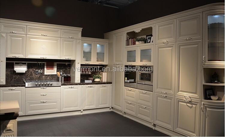 hoge kwaliteit modern design wit massief houten keuken kasten ...