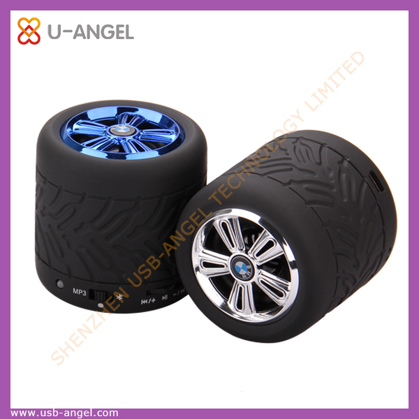 Hot selling fashion business vehicle wheel shape usb flash drive with logo customzied