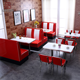 Fast food canteen furniture Restaurant sofa booth,bench seating restaurant sofa