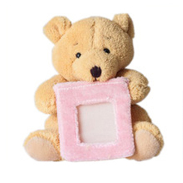 china manufacturer customized plush teddy bear photo frame