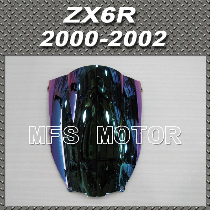 Новый двигатель для Kawasaki ZX6R 2000 2002 00 01 02 / ветровое стекло свет иридиум магия цвета мотоцикл часть