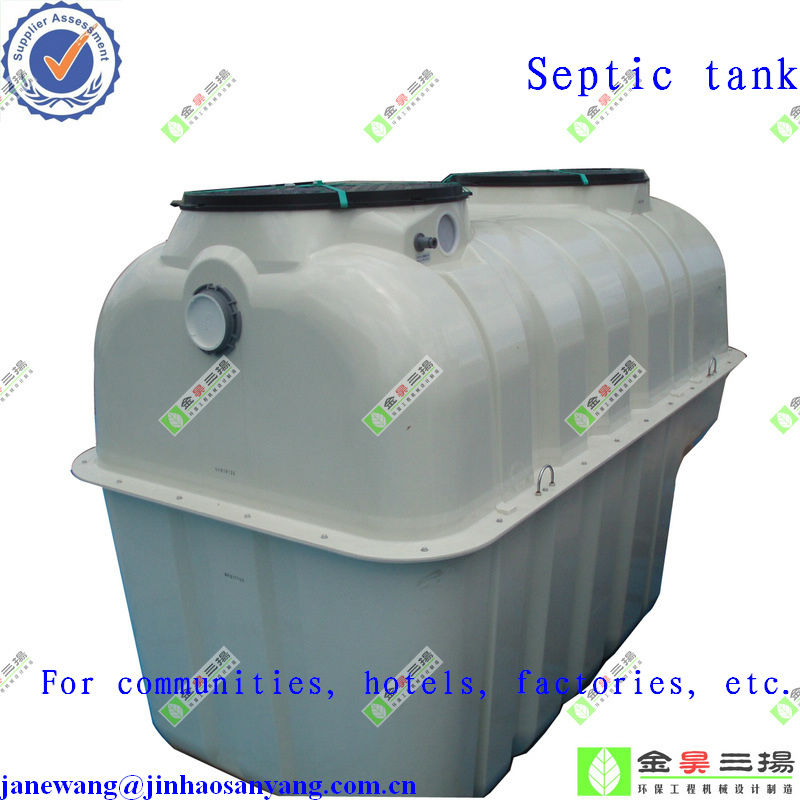 Buildings buried sewage treatment system glass fiber reinforced plastic septic tanks