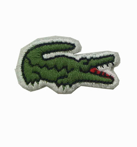 Wholesale China make high quality custom embroidery badges crocodile embroidery patch