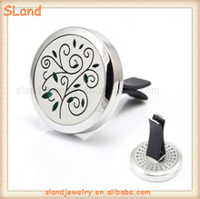 Fancy Magic Tree Small Stainless Steel Aromatherapy pendant Essential Oil car diffuser locket healthy car decoration Aroma clip