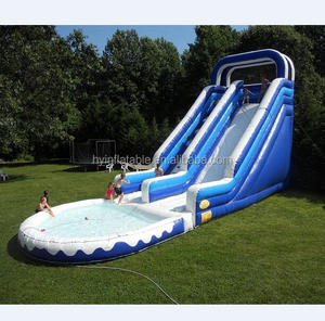 Hot sale indoor inflatable water slides with pool,water slide for kids and adults