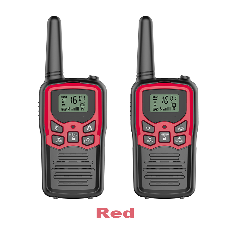 newest model high quality talk range 3-5km long distance handheld walkie talkie toy for kids