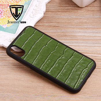 2017 Custom Embossed Alligator Leather Mobile Phone Case For Iphone X Wholesale