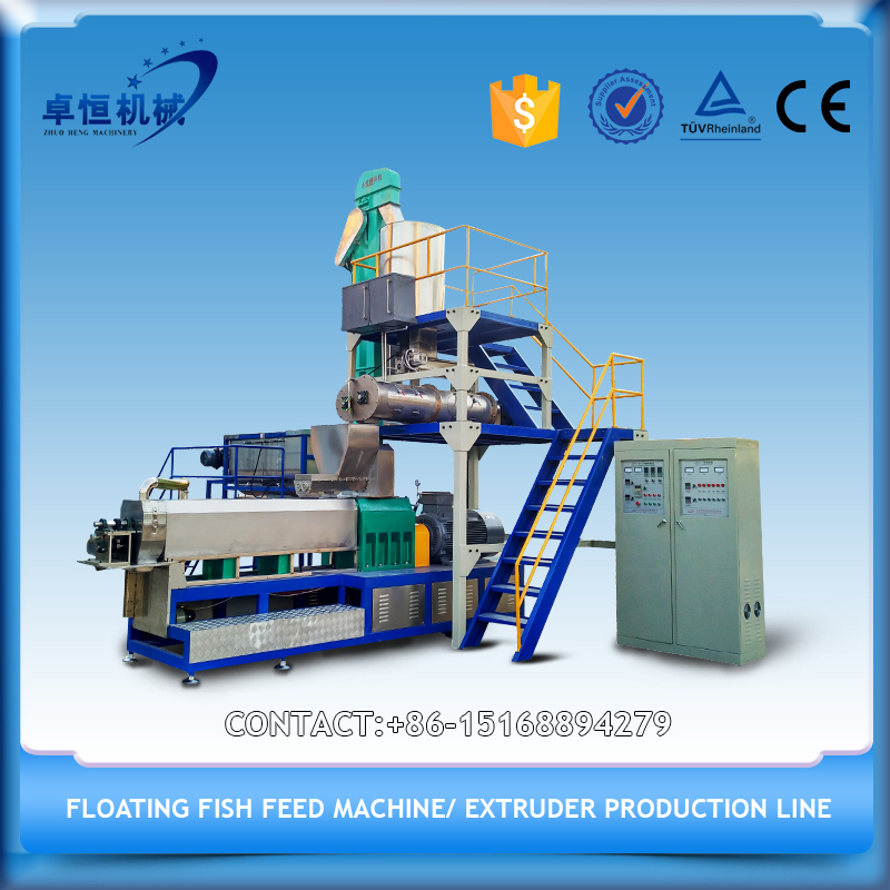 2015 Gold supplier CE floating fish feed pellet extruding machine with the reasonable price
