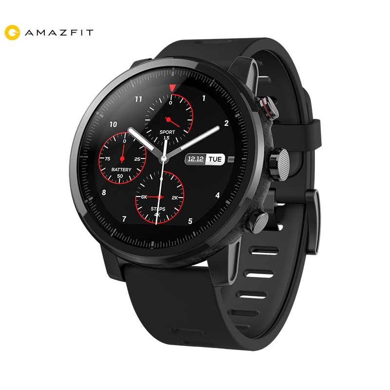 Amazfit Stratos GPS +Glonass Huami Xiaomi Smart Watches PPG Heart Rate Monitor 5ATM Waterproof Wristwatch For Android &iOS Apple фото
