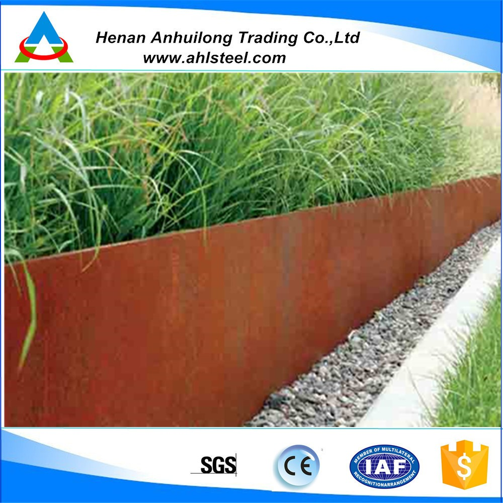 Customized Decorative Corten Steel Garden Edging