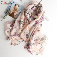 Beat selling pink printed scarf cotton shawl 2019 fashionable muslim hijabs