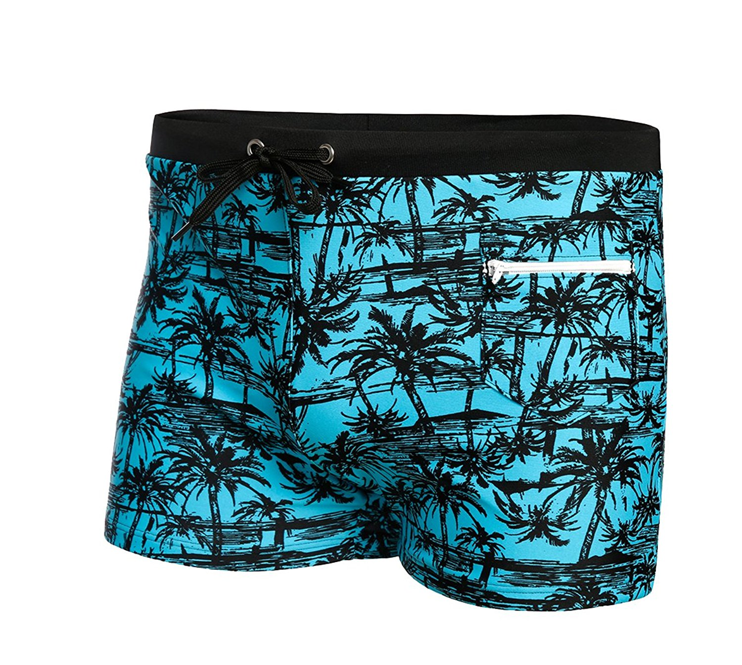 739f6e16fc94 Get Quotations · BELLOO Mens Printed Swim Breifs Boxer With Zipper Pocket