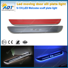 4X LED custom Moving Welcome Lights Door Sill Scuff Plate Pedal for K5