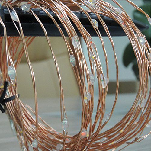 20ft 120 LED Solar Copper Wire String Fairy Lights Waterproof Christmas Lights