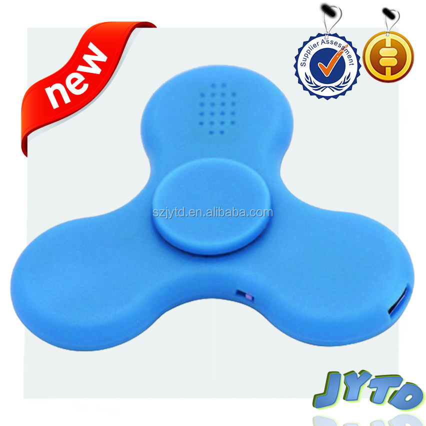 Brand new 3 in 1 fidget spinner with bluetooth speaker LED light wireless speaker with fingertip gyro LED light