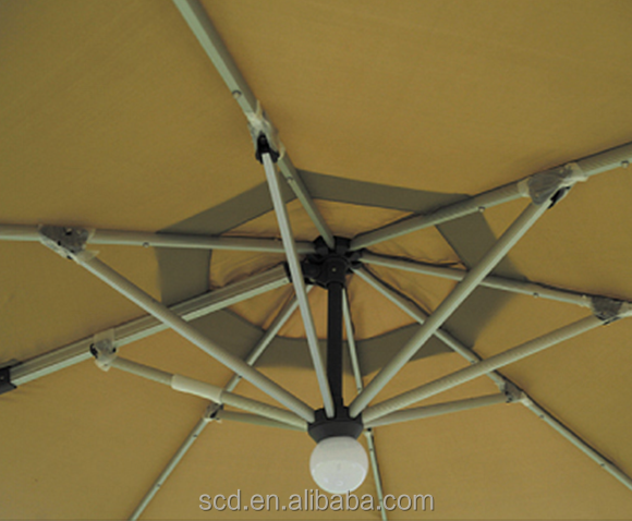 Sunshade Patio Used Solar Parasol Beach Umbrella With LED Light