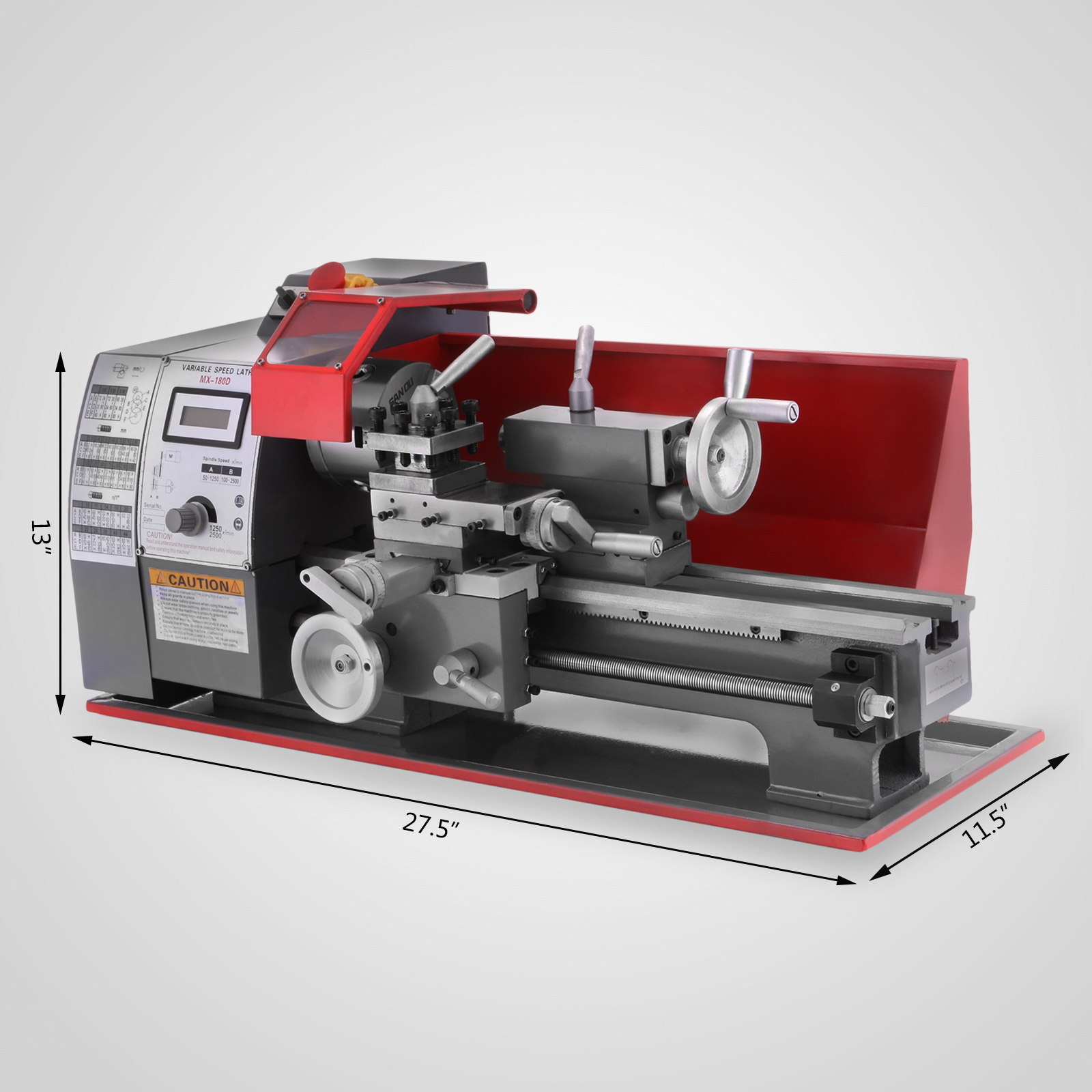 750W Strong Gear Power Metal Combo Lathe Milling Drilling Machine Mini Metal Lathe Machine