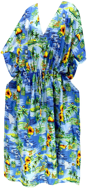 e9297d11119e8 Get Quotations · La Leela Beach Wear Loose Lightweight Kimono Night Wear  Sleep Wear Caftan Casual Dress