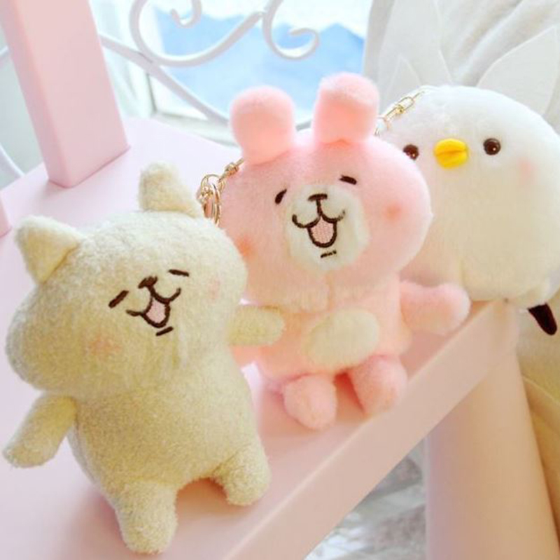 1 Pc Kawaii Kanahei Plush Carpet Cartoon Pink Rabbit White Chick Foot Pad Door Mat Carpet Plush Toy Movies & Tv