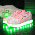 Children Shoes With Light Up Sneakers For Kid USB Charging Sole Luminous Led shoe Boy Girl