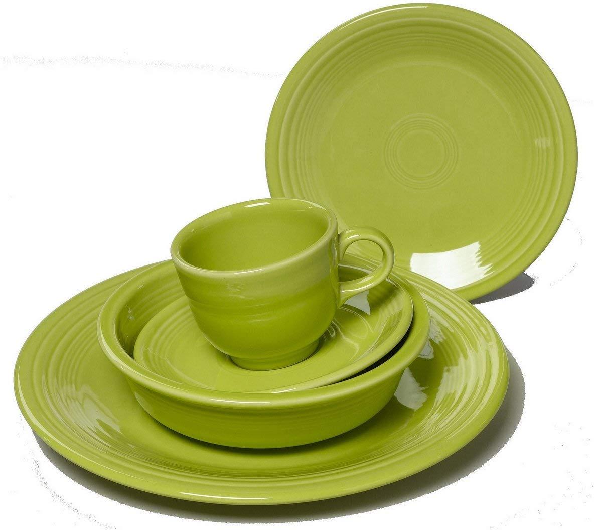 Fiesta Dinnerware 20 Piece Dining Set - Lemongrass Green - 855332
