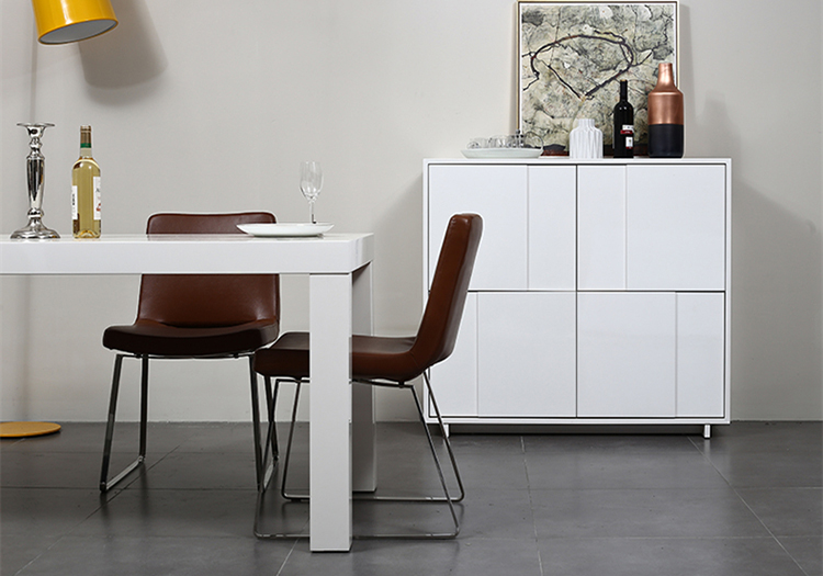 Eetkamer Wit Hoogglans : Nieuwe eenvoudige vierkante wit hoogglans houten eettafel buy