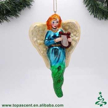 popular blown glass hanging animated christmas angels ornament wholesales from direct factory in china - Animated Christmas Ornaments