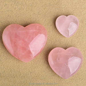 Wholesale Heart Shaped Rose Quartz Crystal Healing Chakra Gemstone Hearts