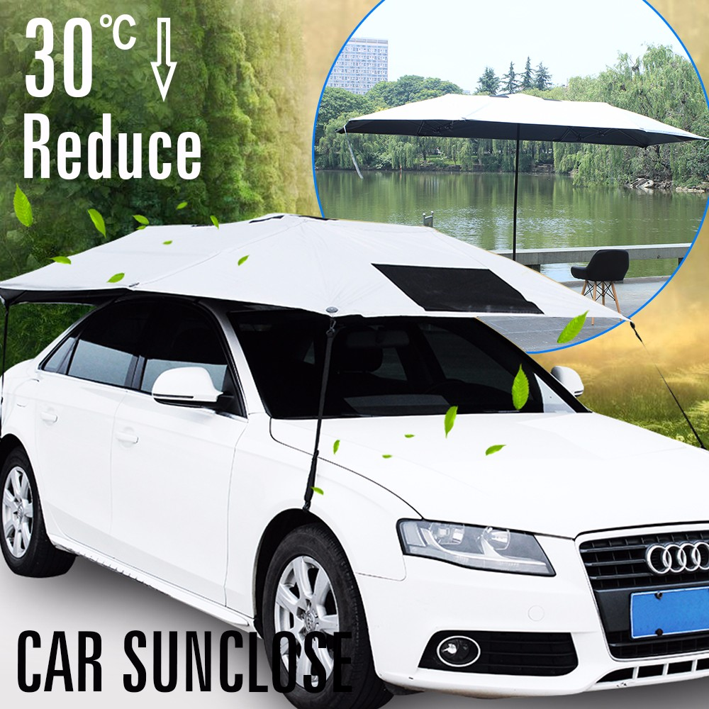SUNCLOSE Factory car body cover fabric rv awning lights special umbrella with printing