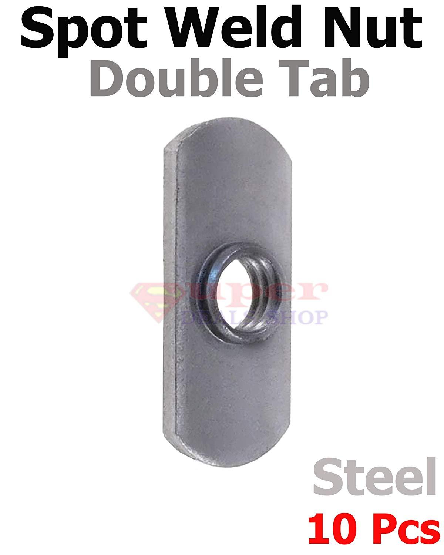 Quantity: 600 Double Tab Low Carbon Plain Steel 1//2-13 Spot Weld Nut